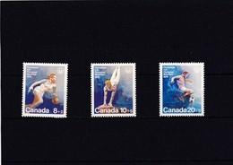 Canada Nº 591 Al 593 - 1952-.... Règne D'Elizabeth II
