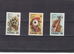 Canada Nº 594 Al 596 - 1952-.... Règne D'Elizabeth II