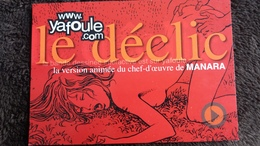 CPM LE DECLIC VERSION ANIMEE DE L OEUVRE DE MANARA YAFOULE .COM FEMME NUE FAISANT L AMOUR - Werbepostkarten