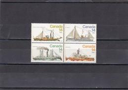 Canada Nº 685 Al 688 - 1952-.... Règne D'Elizabeth II