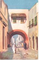 POSTAL    MOROCCO (MARRUECOS)  A STREET IN MAZAGAN (UNA CALLE EN MAZAGAN) - Marruecos