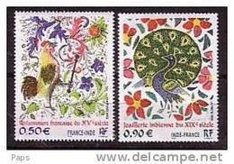 2003-N° 3629/3630** ART.EMISSION COMMUNE AVEC L'INDE - Francia