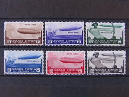 "ITALIA Colonie Cirenaica Aerea-1933- ""Crociera Zeppelin"" Cpl. 6 Val. MH* (descrizione) - Cirenaica"