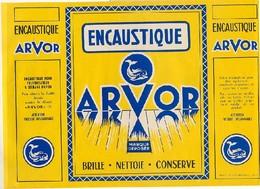 """ETIQUETTE PUBLICITAIRE - ENCAUSTIQUE """"ARVOR"""" - LAMBALLE - Gd Format 46.5x20 - Advertising"""