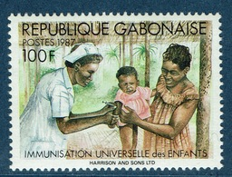 Gabon, Vaccines For Children, 1987,  MNH VF - Gabon