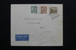 ESPAGNE - Enveloppe Par Avion De Las Palma En 1937 Pour Paris, Cachet De Censure Au Verso - L 24767 - Republikanische Zensur