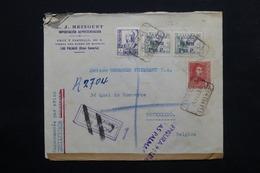 ESPAGNE - Enveloppe En Recommandé De Las Palma En 1938 Pour Bruxelles , Avec Censure Militaire - L 24768 - Republikanische Zensur