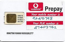 Fiji - Vodafone Know It All Type#1, GSM SIM, Used Fixed Chip - Fiji