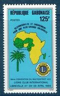 Gabon, Lions Clubs, 1989,  MNH VF - Gabon