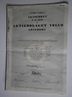 Suède. Goteborg, 1er Juin 1935. Volvo, 1 Action De 50 Kronor - Automobile
