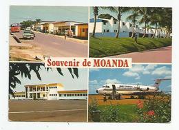Afrique Gabon Souvenir De Moanda Multi Vues Dont  Airport Avion Air Gabon - Gabón
