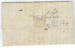 Lettre Avec Marque De La Grande Armée; 22/07/1813, Avec Au Verso Déboursé De Cholet (47) 37X10 . - Marcofilia (sobres)