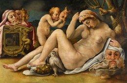 @@@ MAGNET - Michele Tosini, Called Michele Di Ridolfo Del Ghirlandaio, Venus And Cupid - Publicitaires