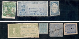 INDIA1879-1933:Lot Of 7(including Revenues) - India