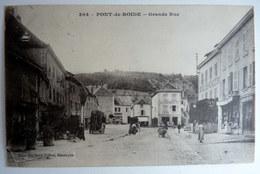 CPA CARTE POSTALE 25 PONT DE ROIDE GRANDE RUE Ed Gaillard 304 - France
