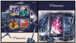 Sao Tome And Principe 2016 Minerals Klb+s/s MNH - Mineralen