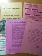 Lot De 5 Feuillets De La NSDAP De Strasbourg. Alsace. Guerre 39-45. WW II - Livres, BD, Revues