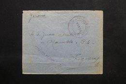 ESPAGNE - Enveloppe En FM Pour Figuera Avec Cachet De Censure , Propagande Franco Au Verso - L 24777 - Marcas De Censura Nacional
