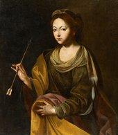 @@@ MAGNET - Naples School, 17th Century, St. Ursula - Publicitaires