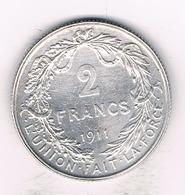 2 FRANCS 1911 FR BELGIE /2119/ - 1909-1934: Albert I