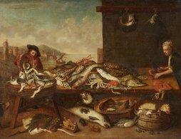 @@@ MAGNET - Netherlandish School, 17th Century, Large Fish Still Life - Publicitaires