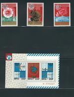 RUSSIA, (Soviet Union), 1974, U.P.U. Centenary 3v + S/s MNH - 1923-1991 URSS