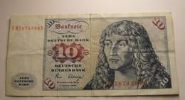 1980 - Allemagne - Germany - 10 Deutsche Mark, Frankfurt 2 Januar 1980, CM7874598B - [ 7] 1949-… : RFA - Rep. Fed. Tedesca