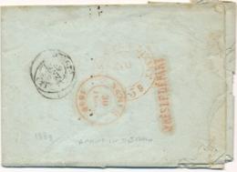 """1839 Griffe """" APRES LE DEPART """" Au Verso Lettre Obl T12 CHARLEVILLE ARDENNES Pour NAMUR - 1830-1849 (Belgique Indépendante)"""