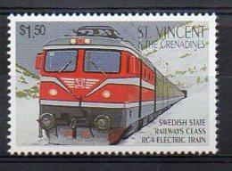 ST. VINCENT. TRAINS. MNH (3R0746) - Eisenbahnen