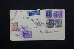 ESPAGNE - Enveloppe De Valladolid Pour L 'Italie En 1939 Par Avion , Cachet De Censure - L 24779 - Marcas De Censura Nacional