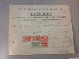 Koekelberg Fonderie Aluminium J Sterckx Formes De Chapeaux  1936 - Belgique