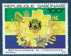 Gabon, Independence, 30th Anniv., 1990,  MNH VF - Gabon
