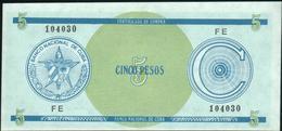 CUBA 5 Pesos Nd. {Foreign Exchange Certificates} UNC P. FX13 (1) - Cuba