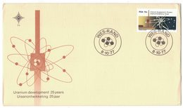 YN153   ENERGIES ATOM RSA 1977,FDC COVER SPECIAL, ATOM ENNERGIES, URANIUM DEVELOPEMENT 25 YEARS , CANCEL WES-RAND 1977 - Atome