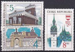 TSCHECHISCHE REPUBLIK 1993 Mi-Nr. 6 + 7 + 9 ** MNH - Tschechische Republik