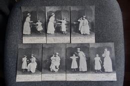 """Suite De 7 Cartes Postales Sur Les Bienfaits De """" L' Huile De RICIN"""".... - Salute"""