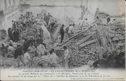 Cpa - Nogent-sur-Seine-10-catastrophe Du 31 Octobre 1911- La Grande Malterie éffondrée.en Construction . - Catastrofi