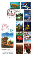 Japan 2008 - FDC - Greetings International - Joint Issue With Indonesia - FDC