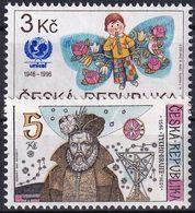 TSCHECHISCHE REPUBLIK 1996 Mi-Nr. 121 + 126 ** MNH - Tschechische Republik