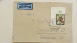 "Berlin: Luftp.-Brief Mit 25+10 Pf ""Tag D.BM 1956"" SoSt. IBO Ludwigshafen Vom 9.11.56 Li Oberes Eckrandstück Knr: 158 - Berlin (West)"