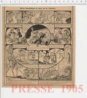 Presse 1905 Humour Loufoque Roi Jacques Ier Au Sahara Métier Paveur Chasse Saint-Hubert Serpent De Trou-sur-Mer 223CH20 - Old Paper