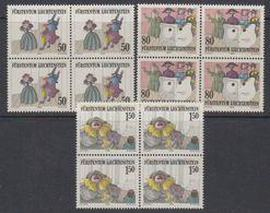 Liechtenstein 1985 Theater 3v Bl Of 4 ** Mnh (42148C) - Liechtenstein