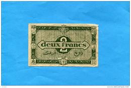 Guerre 39-45 Région économique D'ALGERIE-libération Janvier 1944- Billet 2 Francs - Algérie