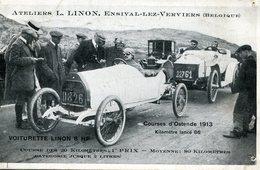 Oostende Courses 1913 Voiturette  Linon Ensival-lez-Verviers - Oostende