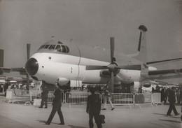 Rare Photo Véritable Salon Du Bourget Années 60 Breguet Atlantic Aéronavale Taille 12.7 X 9 Cm - Aviation