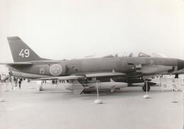 Rare Photo Véritable Salon Du Bourget Années 60 Saab 32 Lansen Taille 12.7 X 9 Cm - Aviation