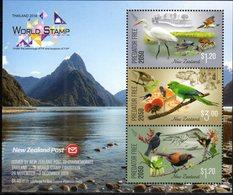 NEW ZEALAND, 2018, MNH, PREDATOR FREE2050, THAILAND EXHIBITION, BIRDS, FROGS, MOUNTAINS, SLT - Oiseaux