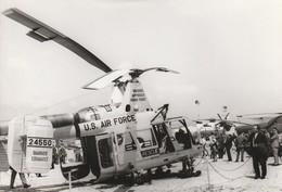 Rare Photo Véritable Salon Du Bourget Années 60 Hélicoptère Américain Us Air Force   Taille 12.7 X 9 Cm - Aviation