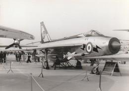 Rare Photo Véritable Salon Du Bourget Années 60 Chasseur Taille 12.7 X 9 Cm - Aviation