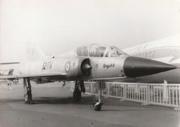 Rare Photo Véritable Salon Du Bourget Années 60 Mirage IIIB Taille 12.7 X 9 Cm - Aviation